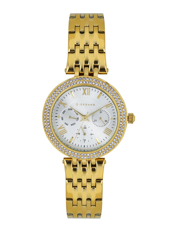 GIORDANO Women Silver-Toned Dial Watch 2716-22