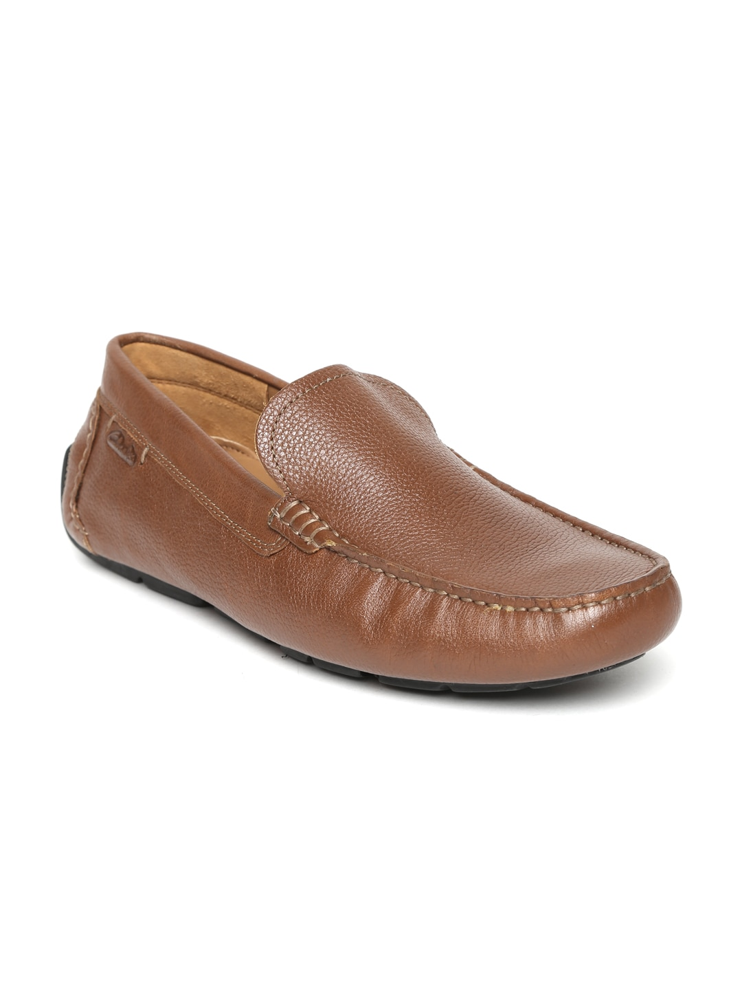 Clarks Men Brown Davont Drive Leather Loafers