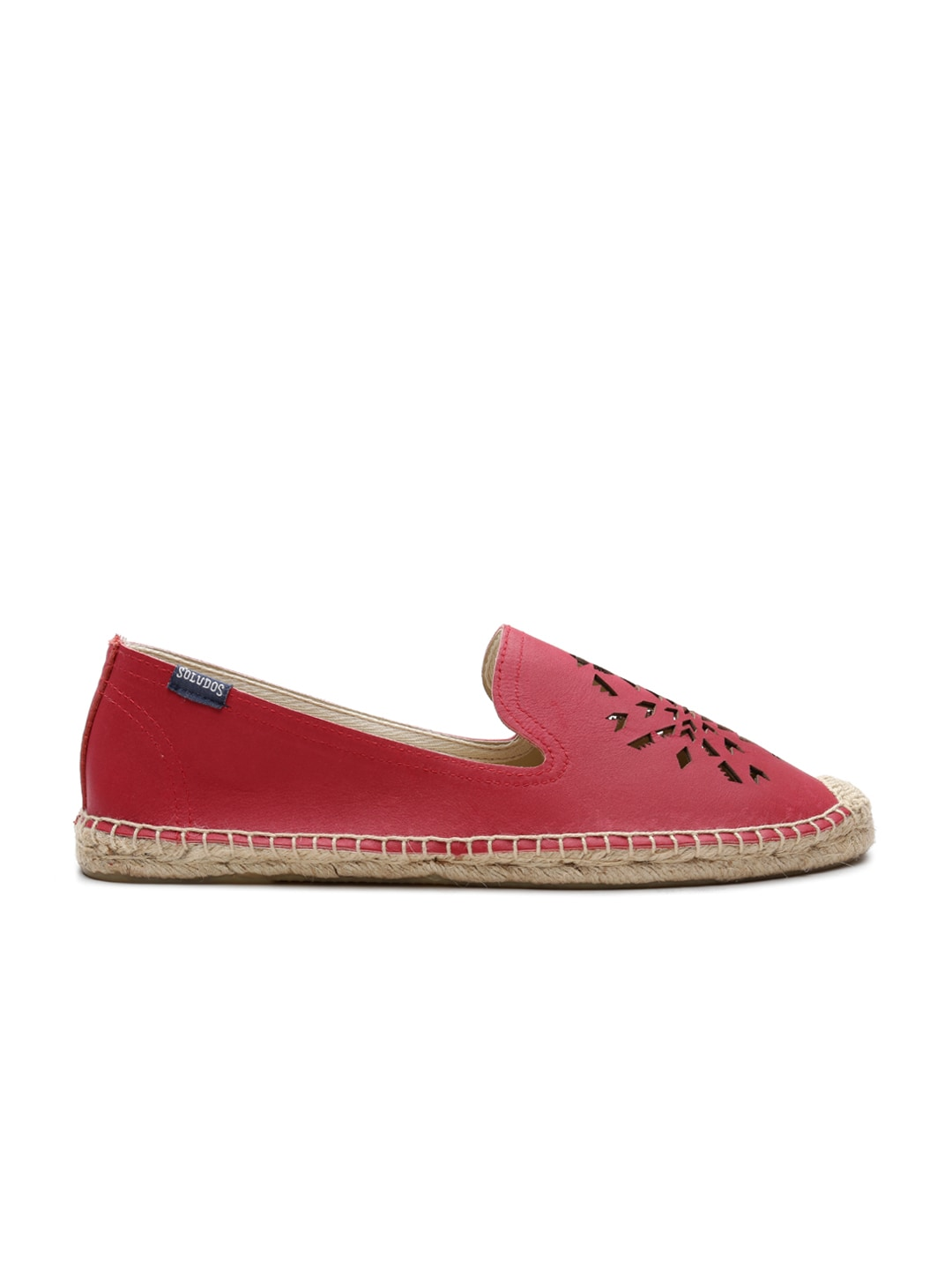 Soludos Women Red Leather Espadrilles