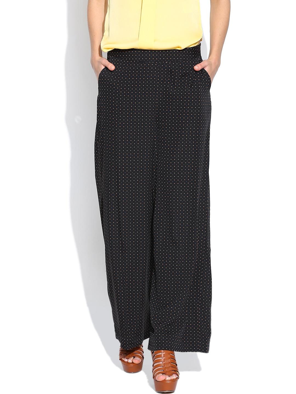Vero Moda Black Dot Print Palazzo Trousers