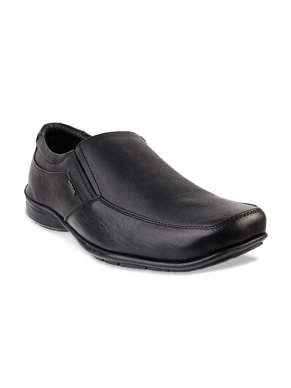 Mochi Black Leather Formal Shoes