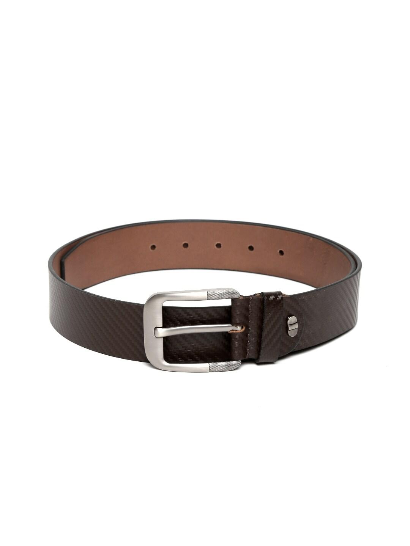 Alvaro Castagnino Men Dark Brown Leather Belt