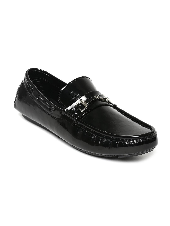 San Frissco Men Black Patent Leather Loafers