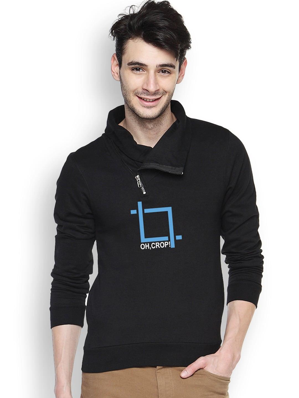 Campus Sutra Black Sweatshirt