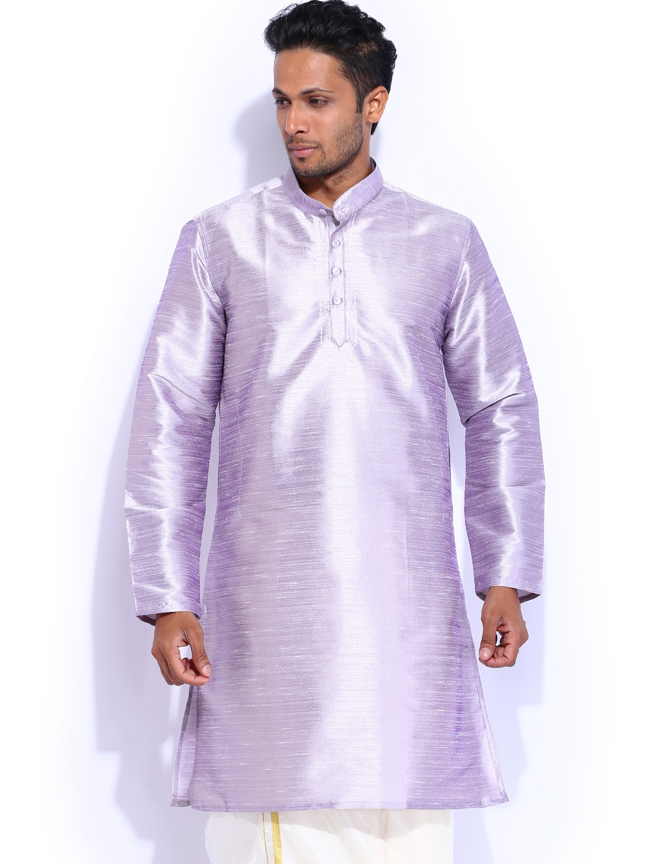 Mangalyam British Club Lavender Silk Kurta