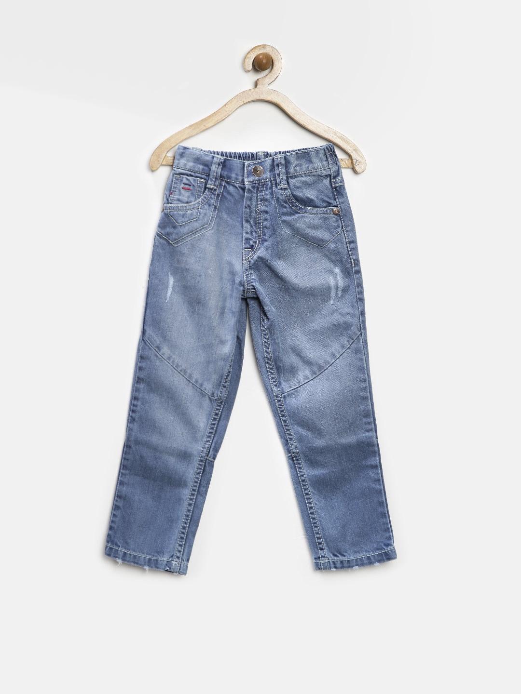 GJ Unltd Jeans by Gini and Jony Boys Blue Washed Jeans