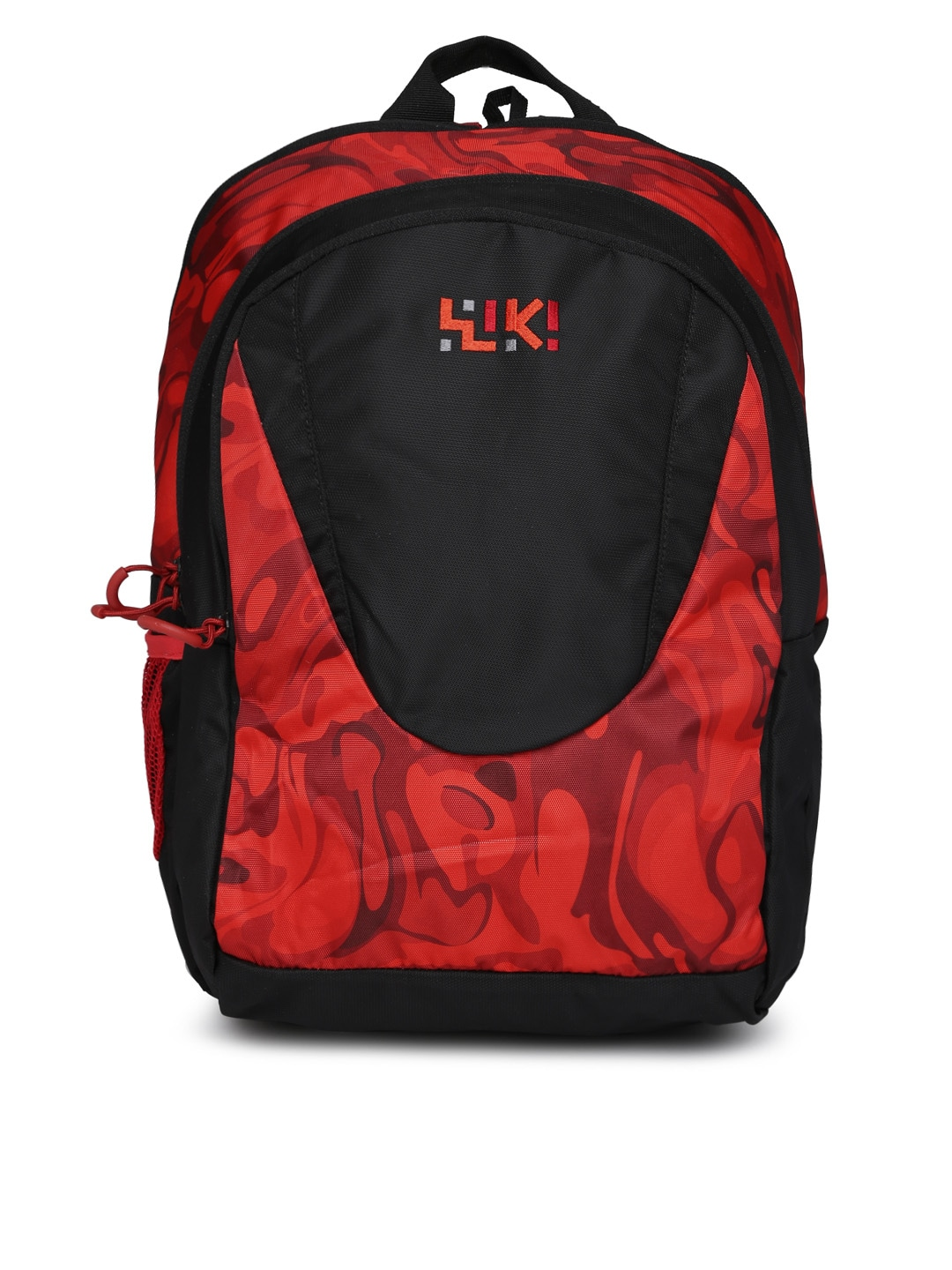 Wiki by Wildcraft Unisex Black & Red Printed Backpack