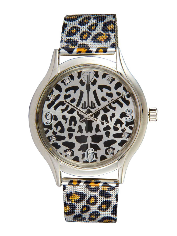 Swiss Design Women Silver-Toned & Black Dial Watch SD 005 IPS