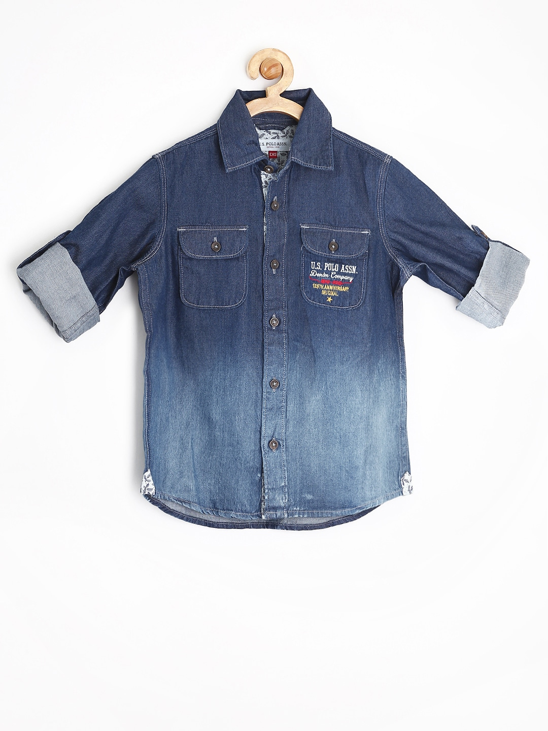 U.S. Polo Assn. Kids Boys Blue Denim Shirt