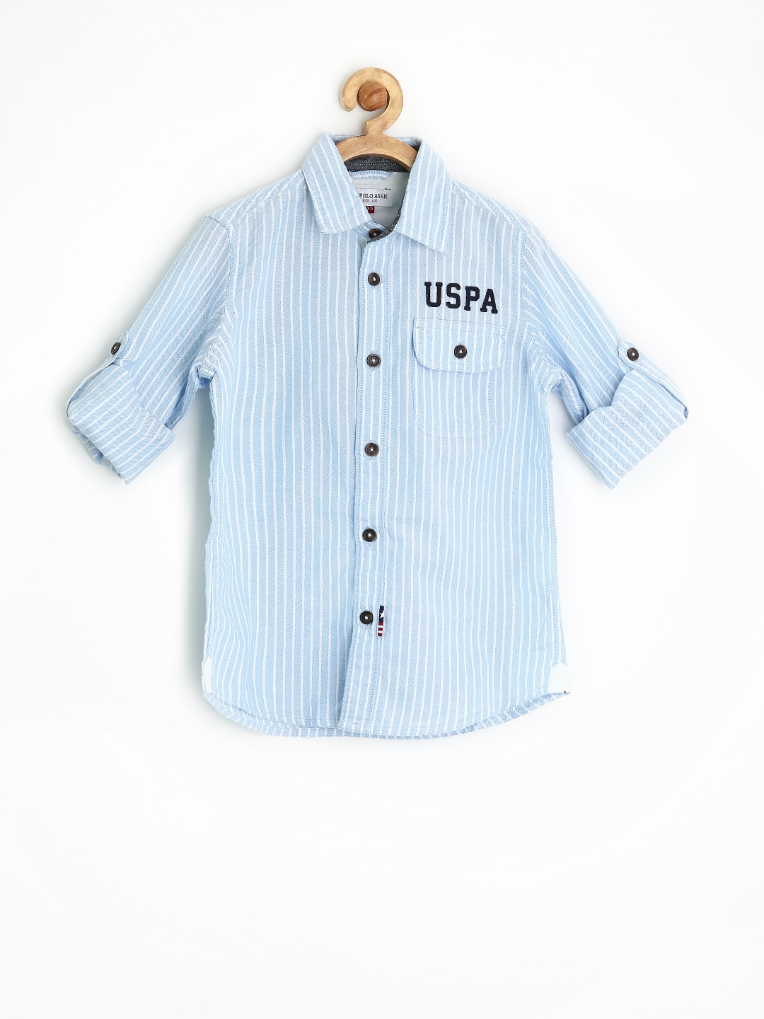 U.S. Polo Assn. Kids Boys Blue Striped Shirt