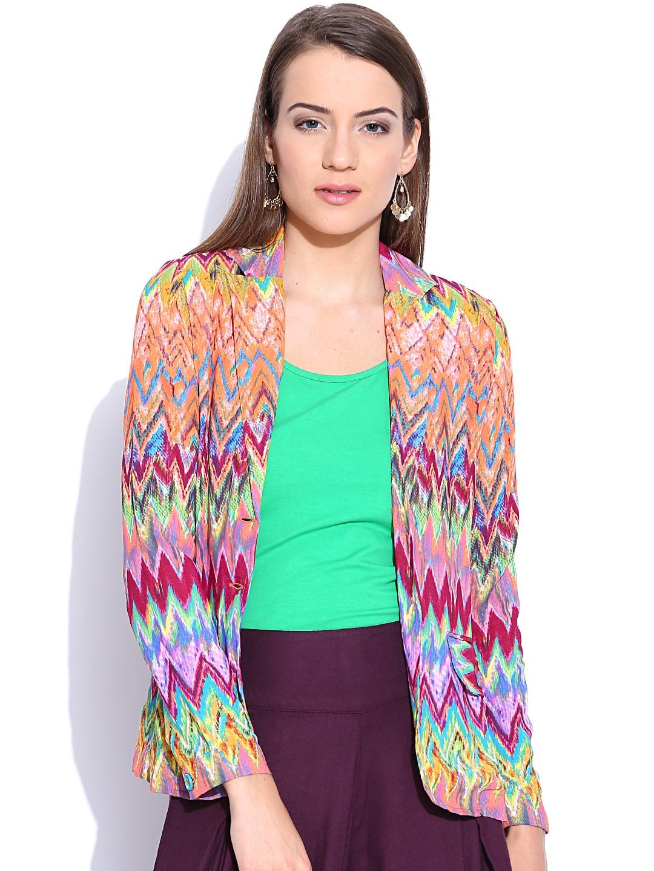 Folklore Multicoloured Printed Jacket