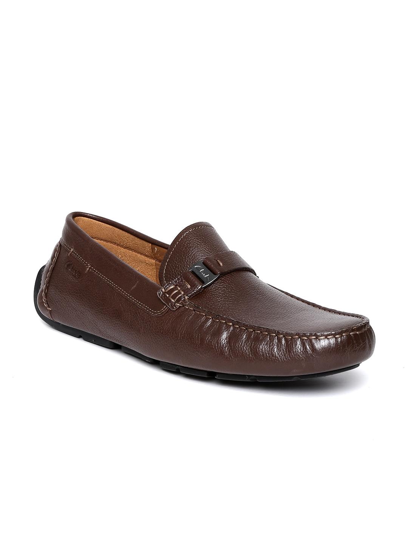 Clarks Men Dark Brown Leather Loafers