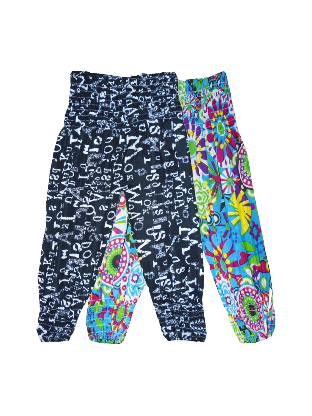 SWEET ANGEL Girls Pack of 2 Printed Harem Pants