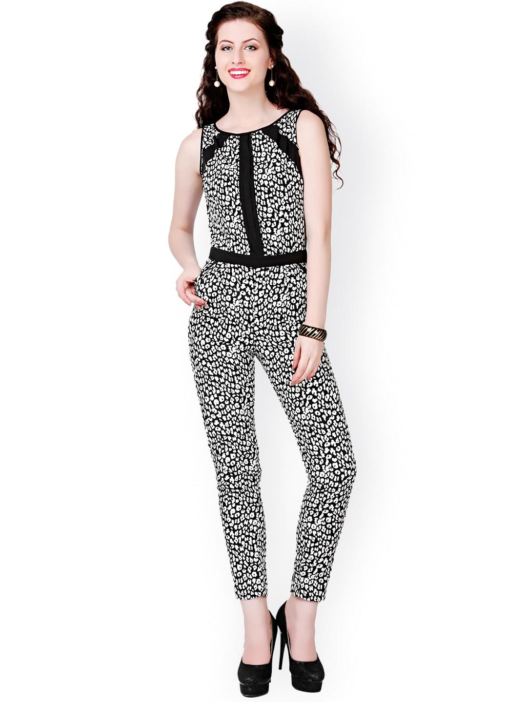 Eavan Black & White Printed Jumpsuit