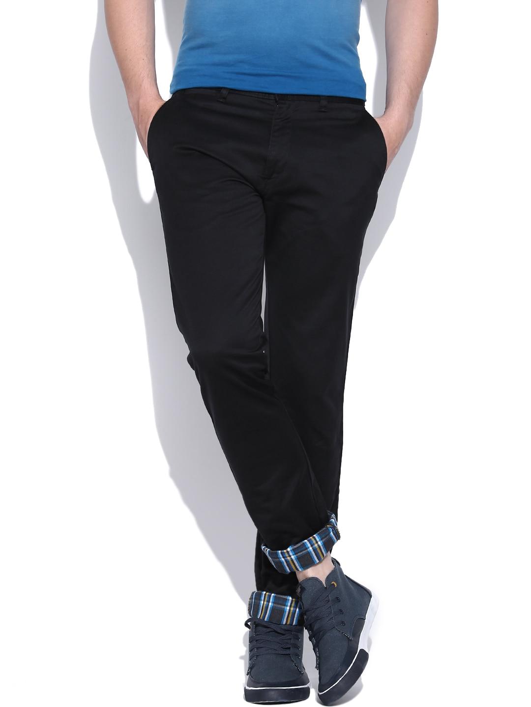 IZOD Black Jose Slim Fit Casual Trousers