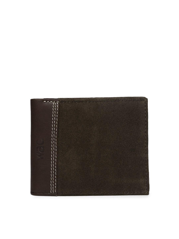 WAC Men Brown Leather Wallet