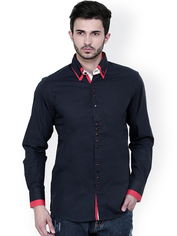 0ffcc434514 Dazzio Navy Slim Fit Casual Shirt