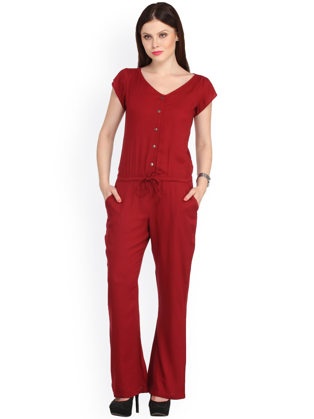 Cottinfab Red Jumpsuit