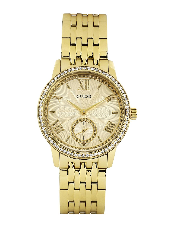 GUESS Women Gold-Toned Dial Watch W0573L2