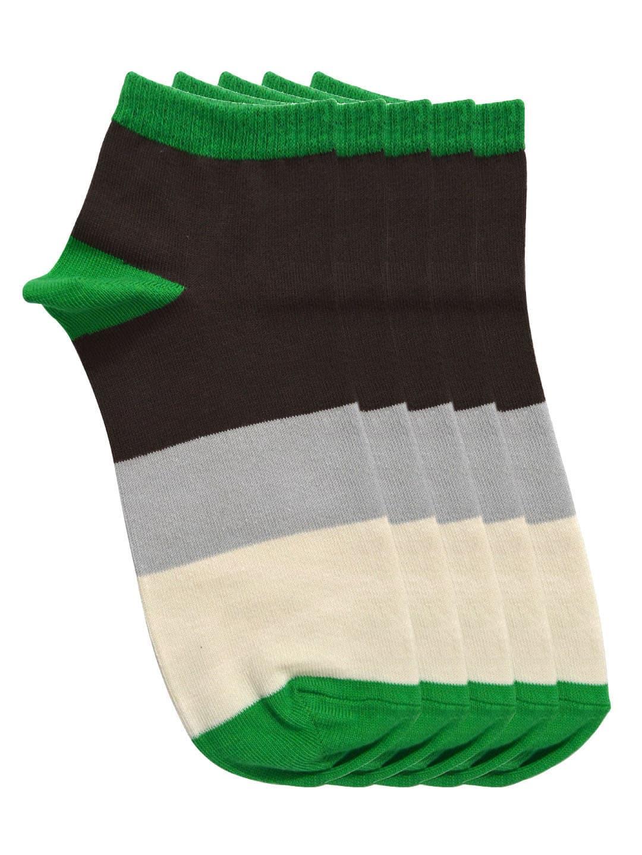 Tossido Men Set of 5 Multicoloured Striped Socks