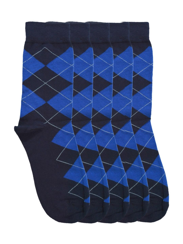 Tossido Men Set of 5 Navy Above Ankle-Length Socks