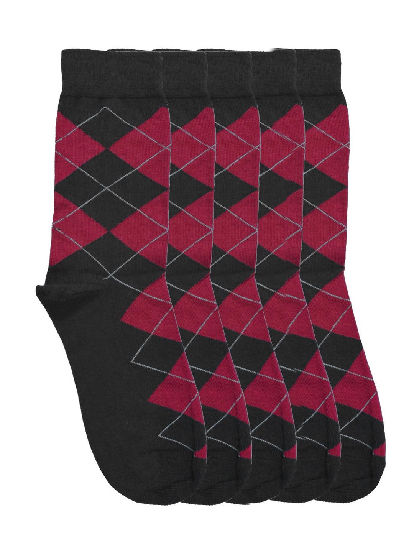 Tossido Men Set of 5 Black Above Ankle-Length Socks
