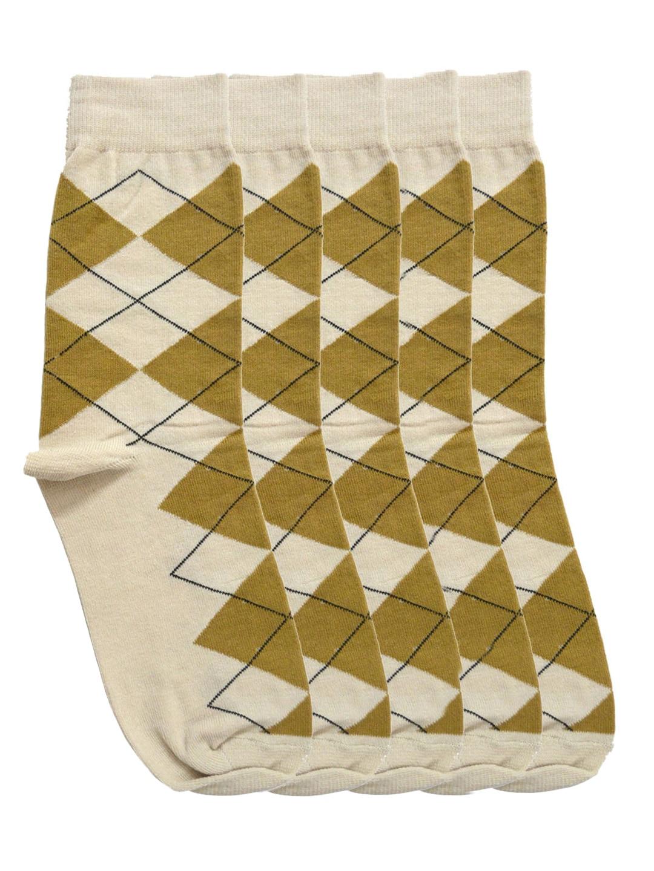 Tossido Men Set of 5 Beige Above Ankle-Length Socks