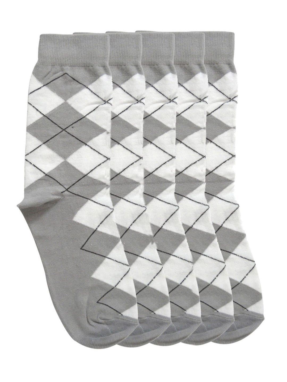 Tossido Men Set of 5 Grey Above Ankle-Length Socks