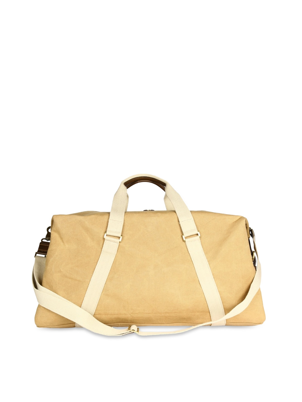 VIARI Men Khaki Duffle Bag
