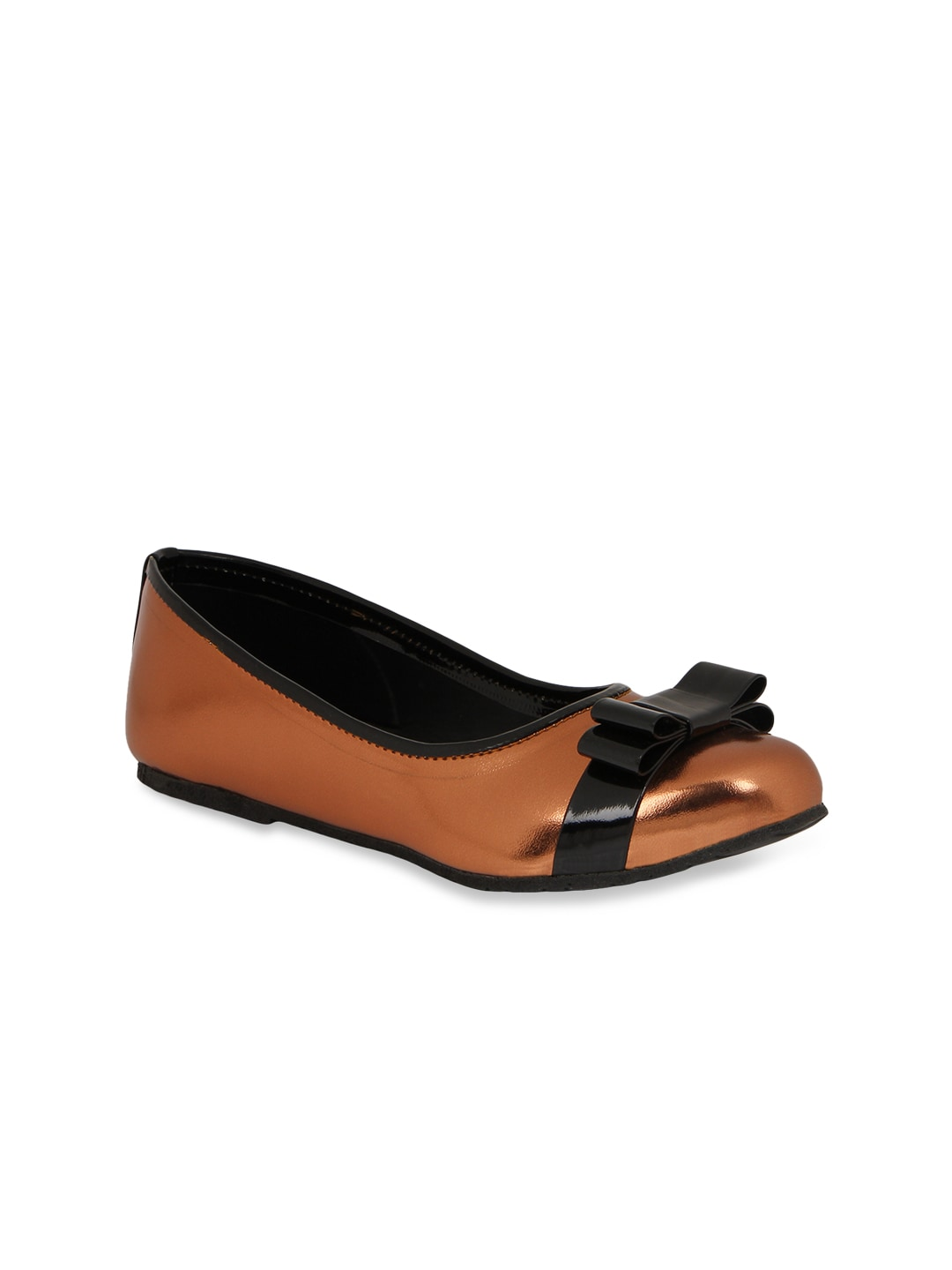 Chalk Studio Women Bronze-Toned Ballerinas