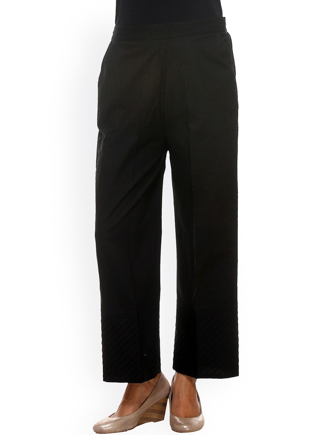 9rasa Black Trousers
