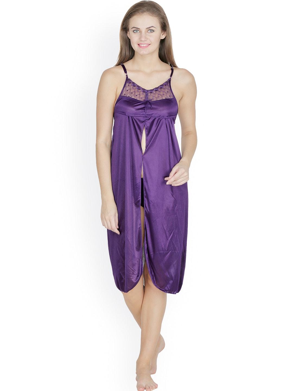 Klamotten Purple Satin Chemise Nightdress X41