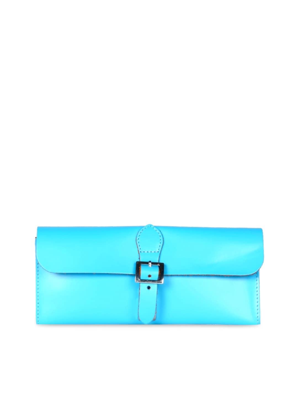 VIARI Blue Leather Clutch