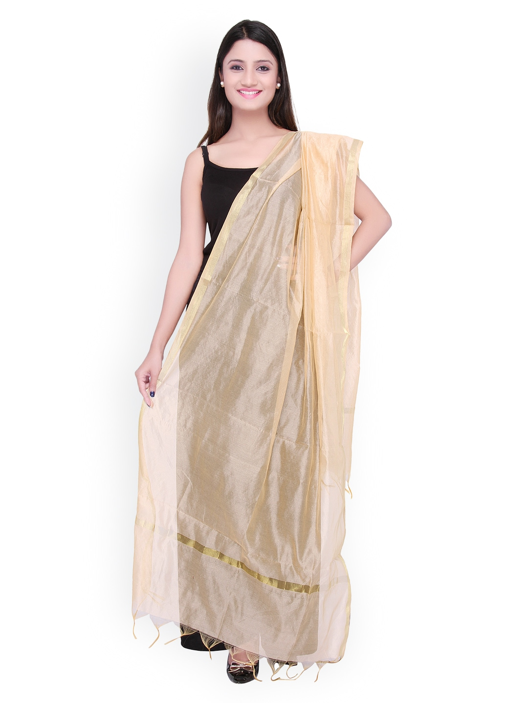 Dupatta Bazaar Beige Silk Dupatta