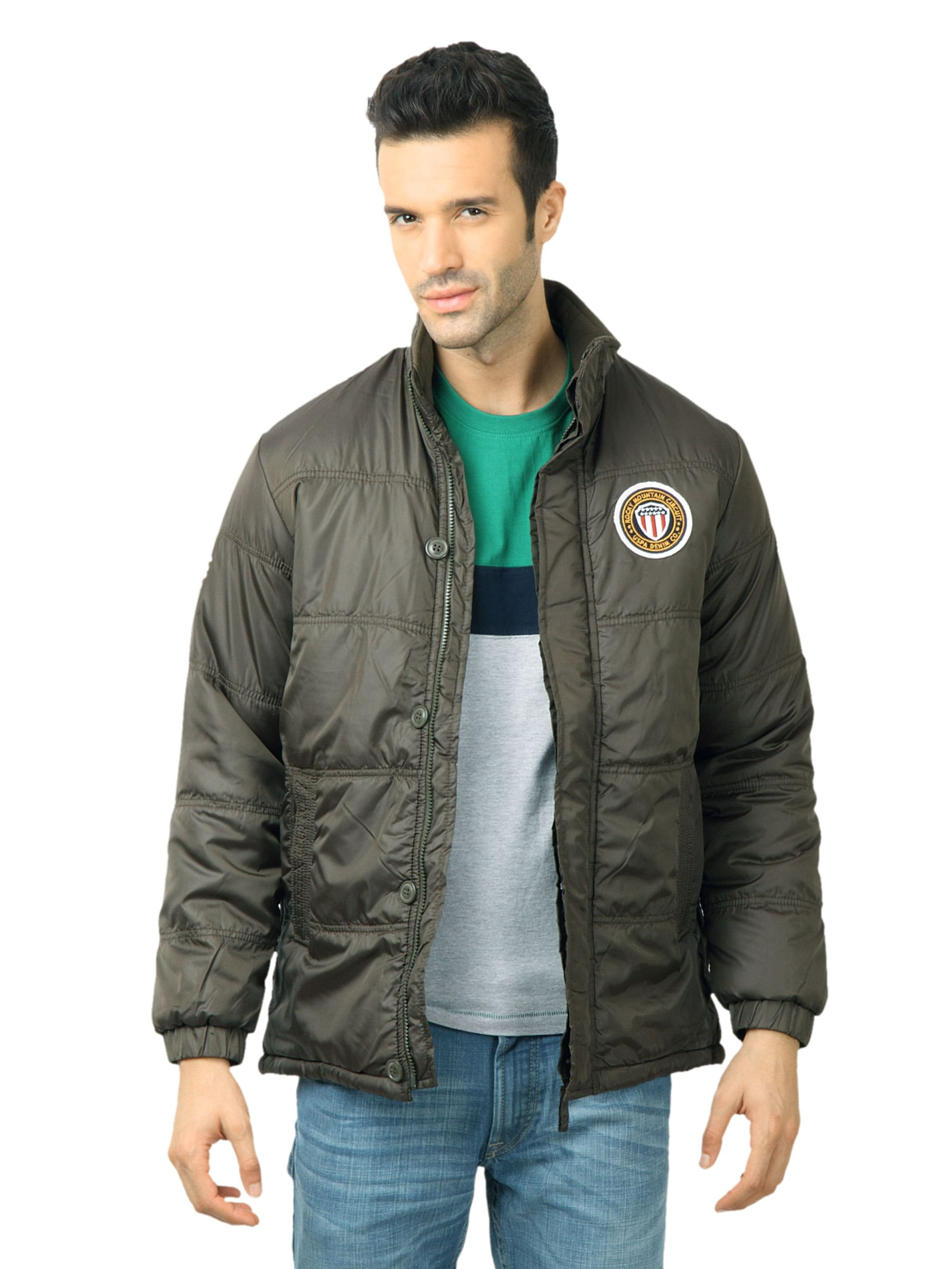 U.S. Polo Assn. Men Solid Olive Jackets