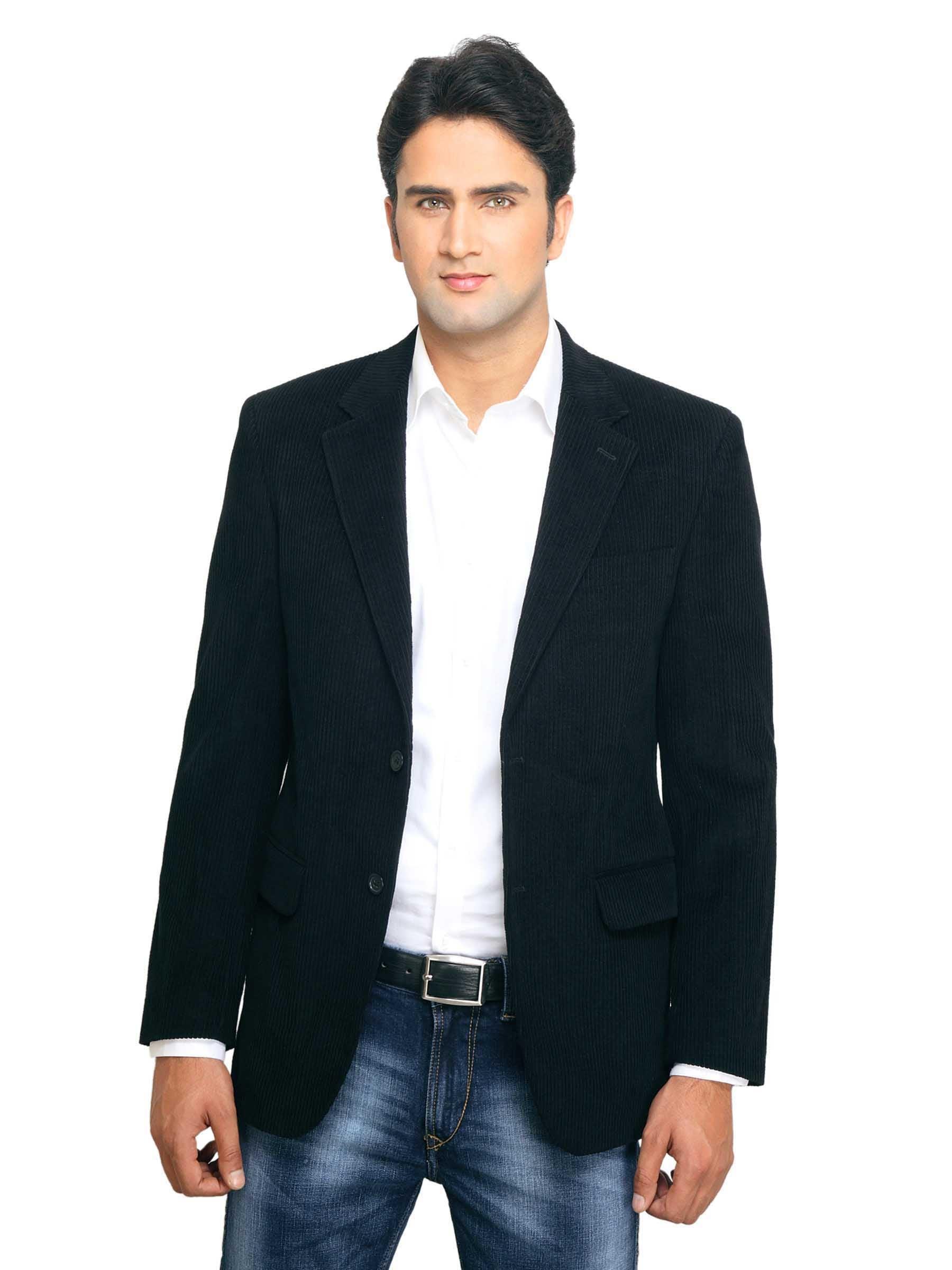 Buy Reid U0026 Taylor Men Semi Formal Black Blazer - 407 - Apparel For Men - 31742