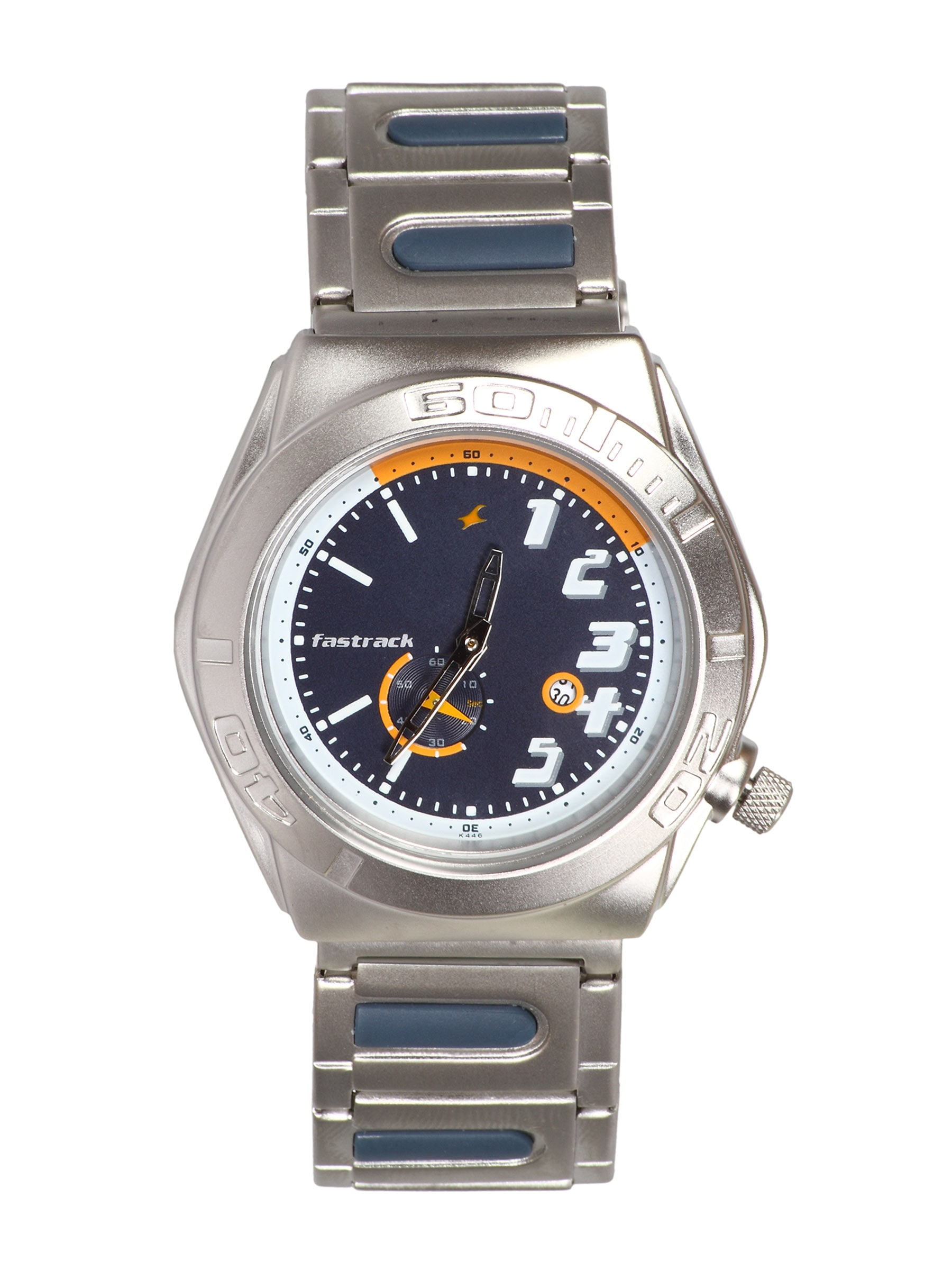 Buy Fastrack Men Analog Steel Navy Blue Watch - 361 ...
