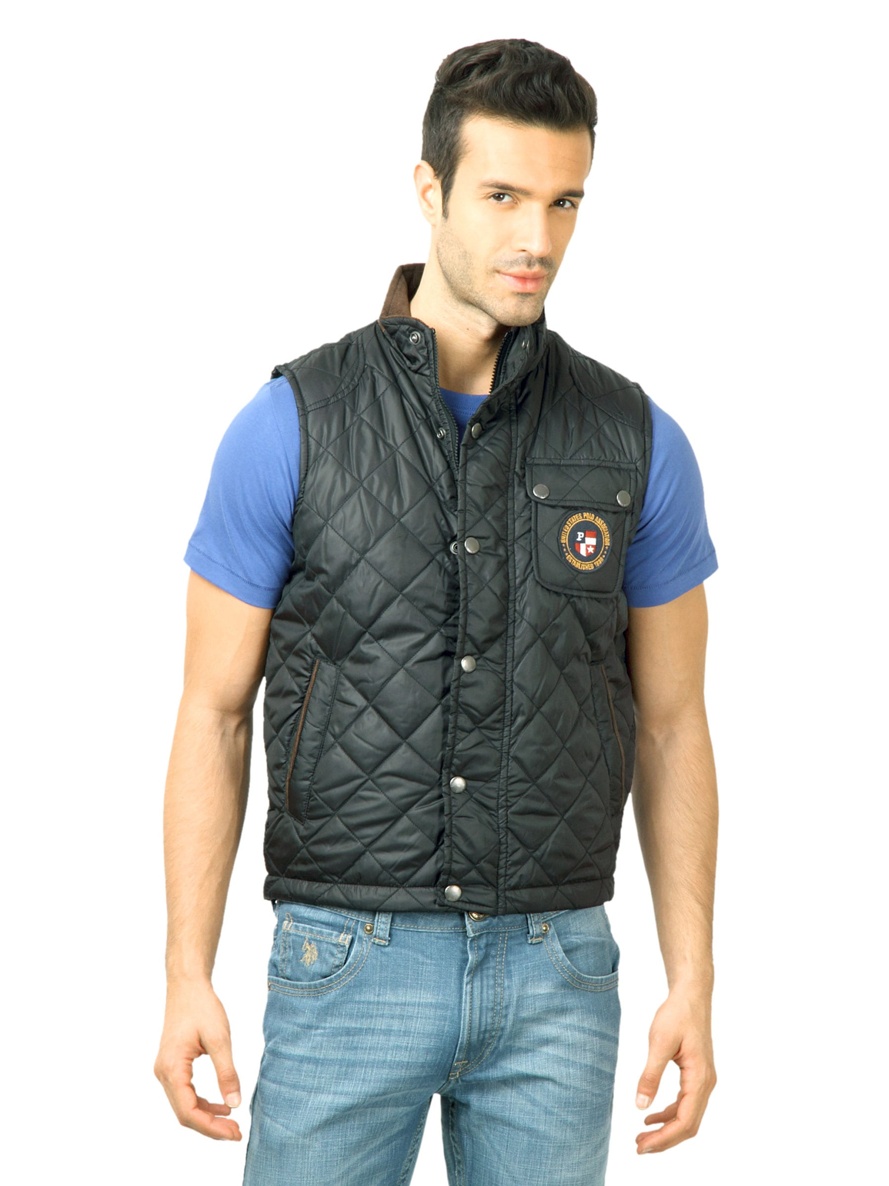 U.S. Polo Assn. Men Solid Black Jackets