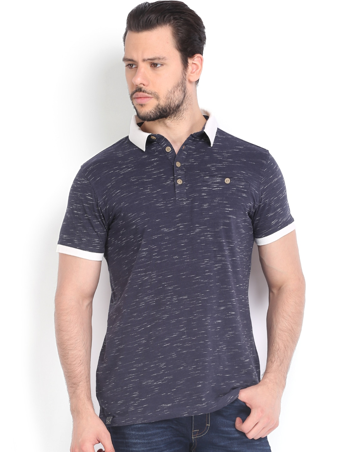 Police 883 Police Men Navy Polo T-Shirt (Multicolor)