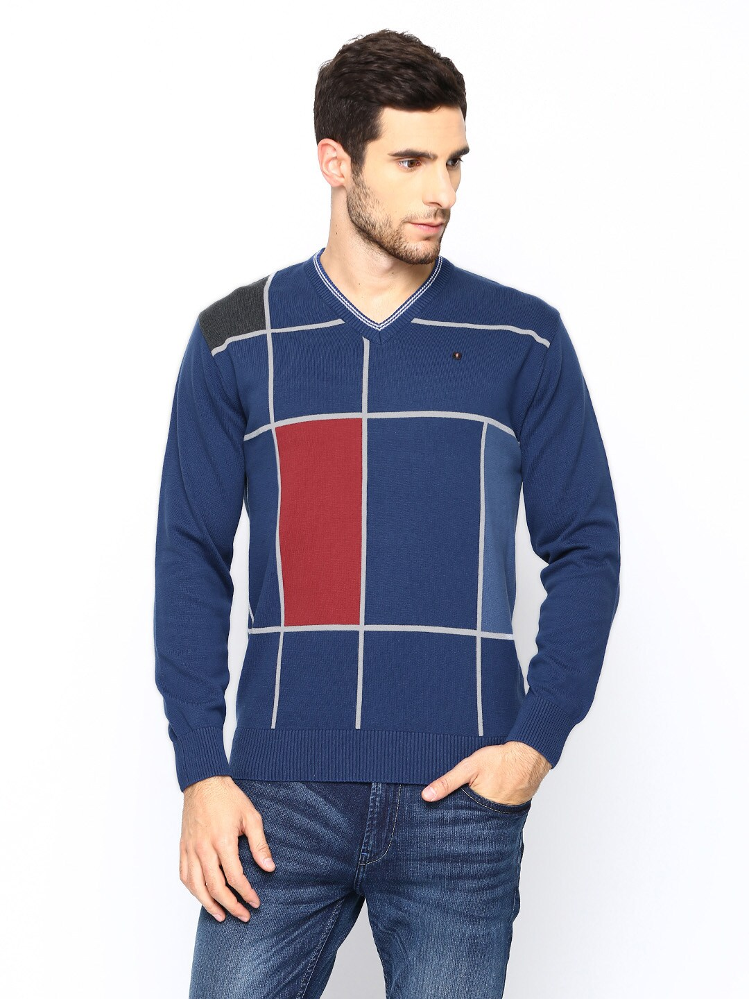 98 Degree North Men Blue Sweater