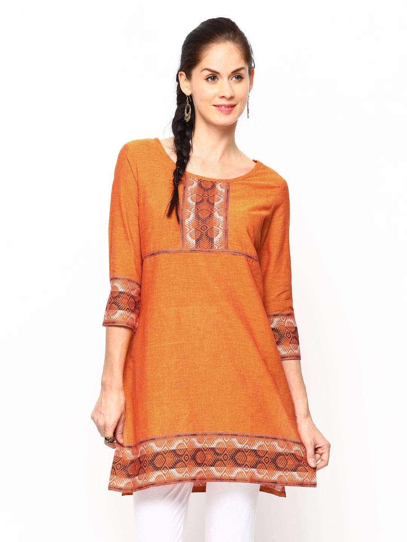 Aurelia Women Orange Kurta