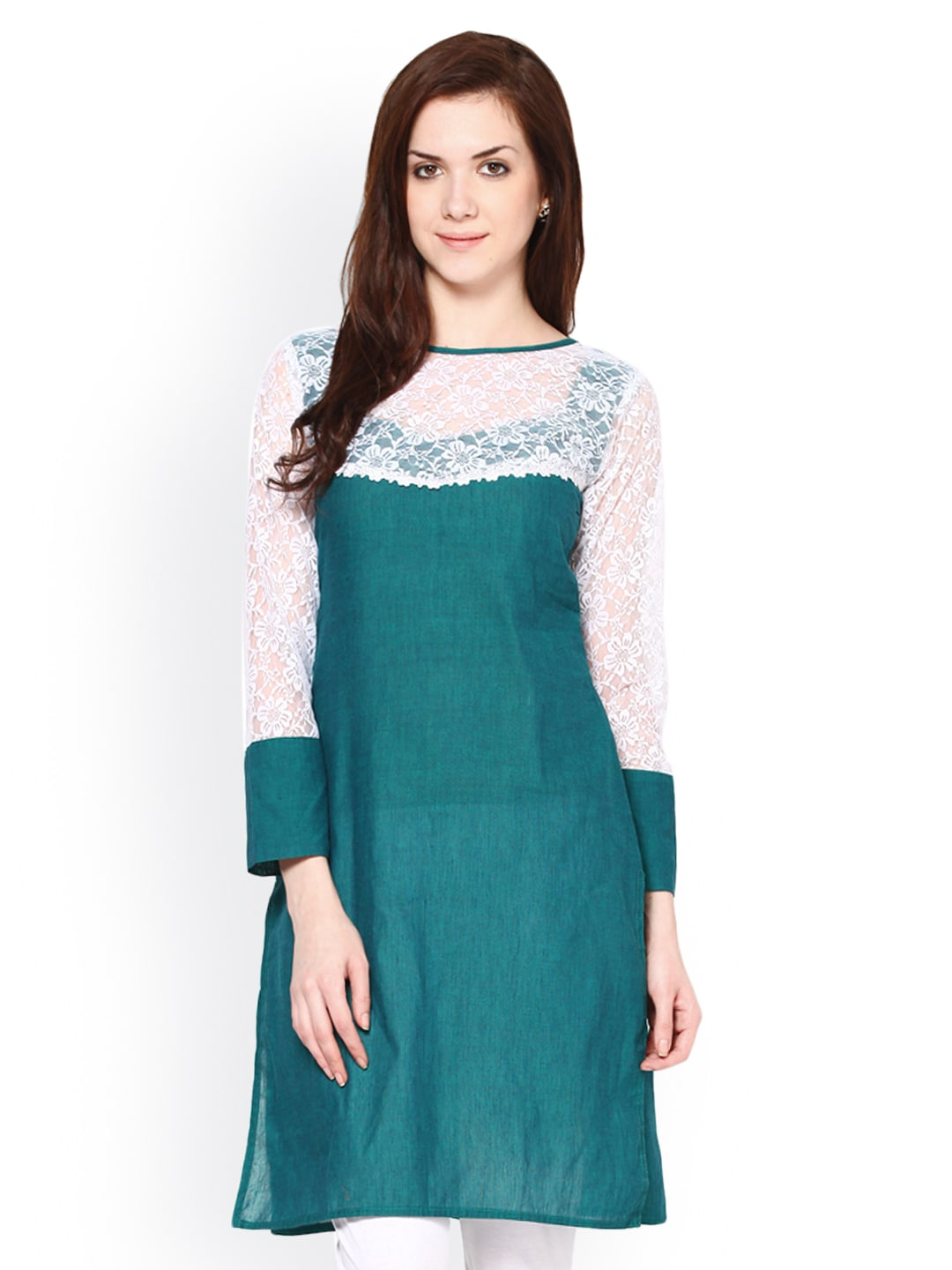 Buy Abhishti Women Green Kurta