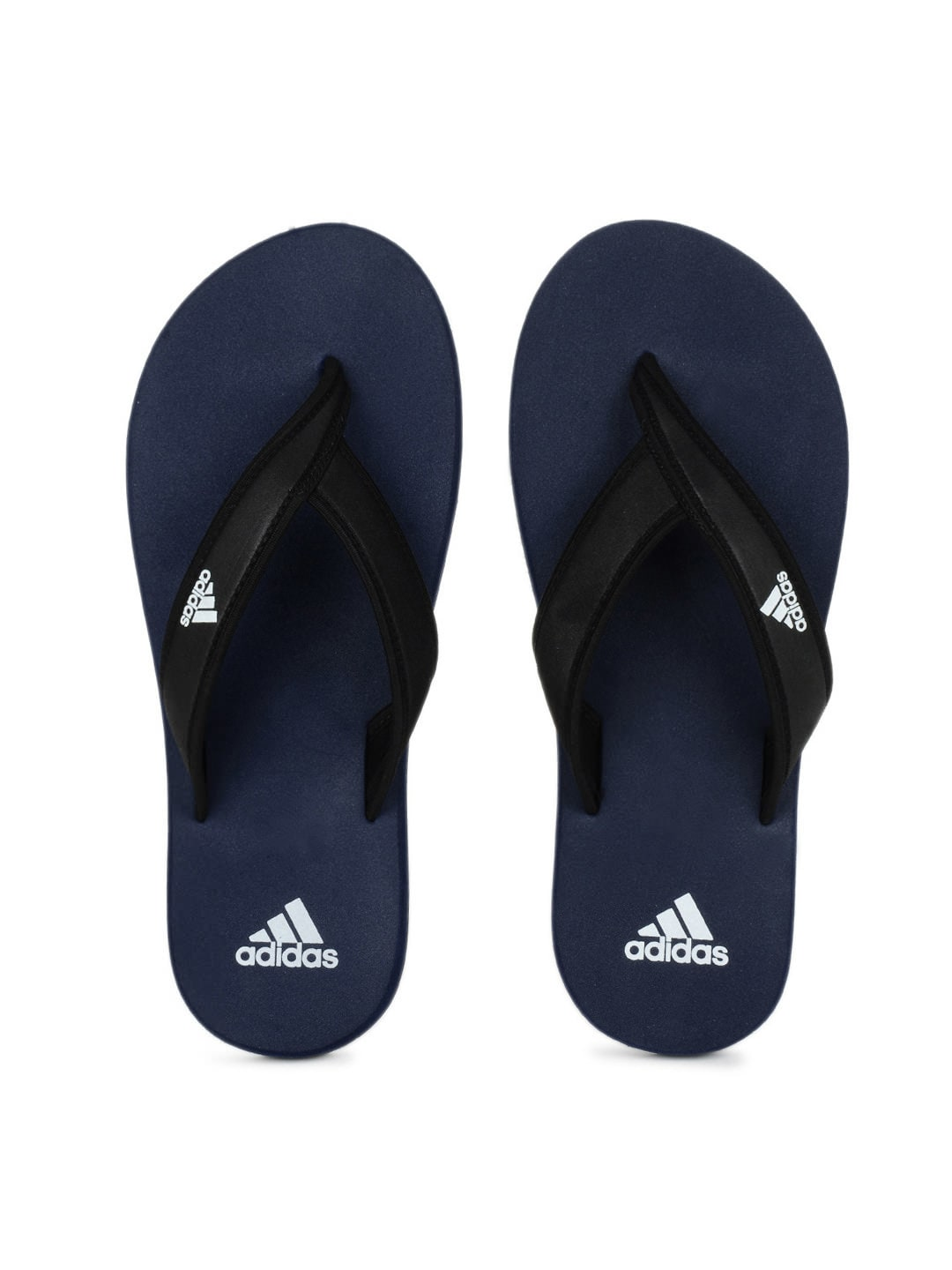Adidas Adidas Men Black & Blue Adi Rio Flip Flops (Multicolor)