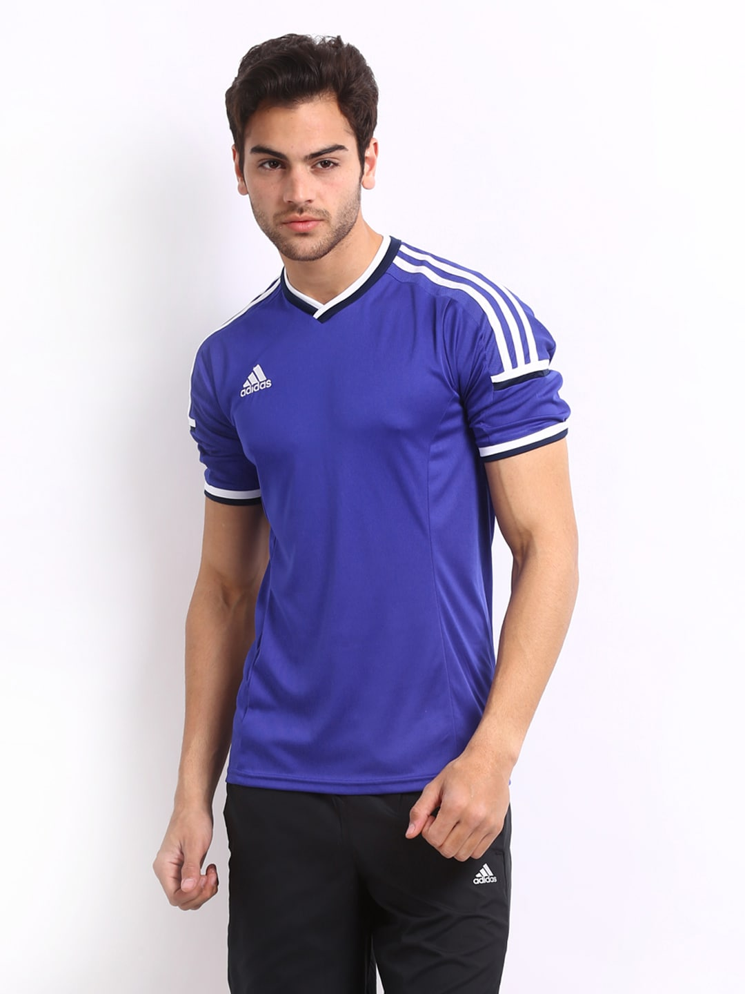 Adidas Adidas Men Blue T-Shirt (Multicolor)