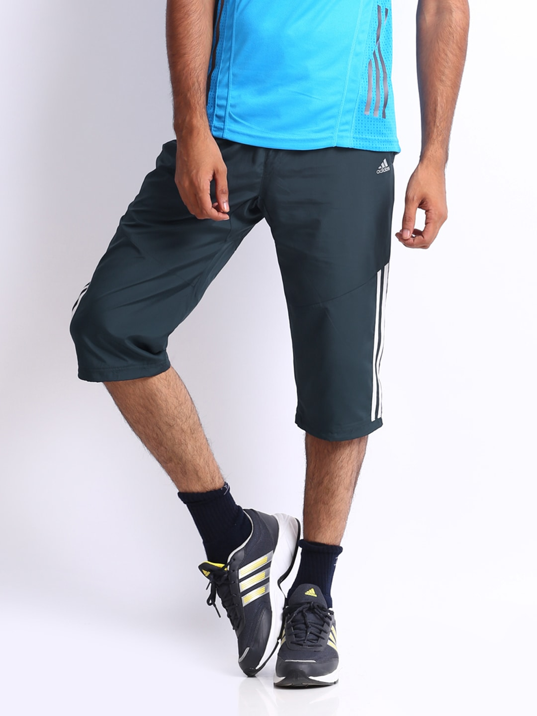 Adidas Adidas Men Charcoal Grey 3\/4 Length Pants (Multicolor)