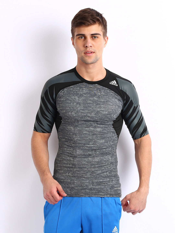 Adidas Adidas Men Grey Printed T-Shirt (Multicolor)