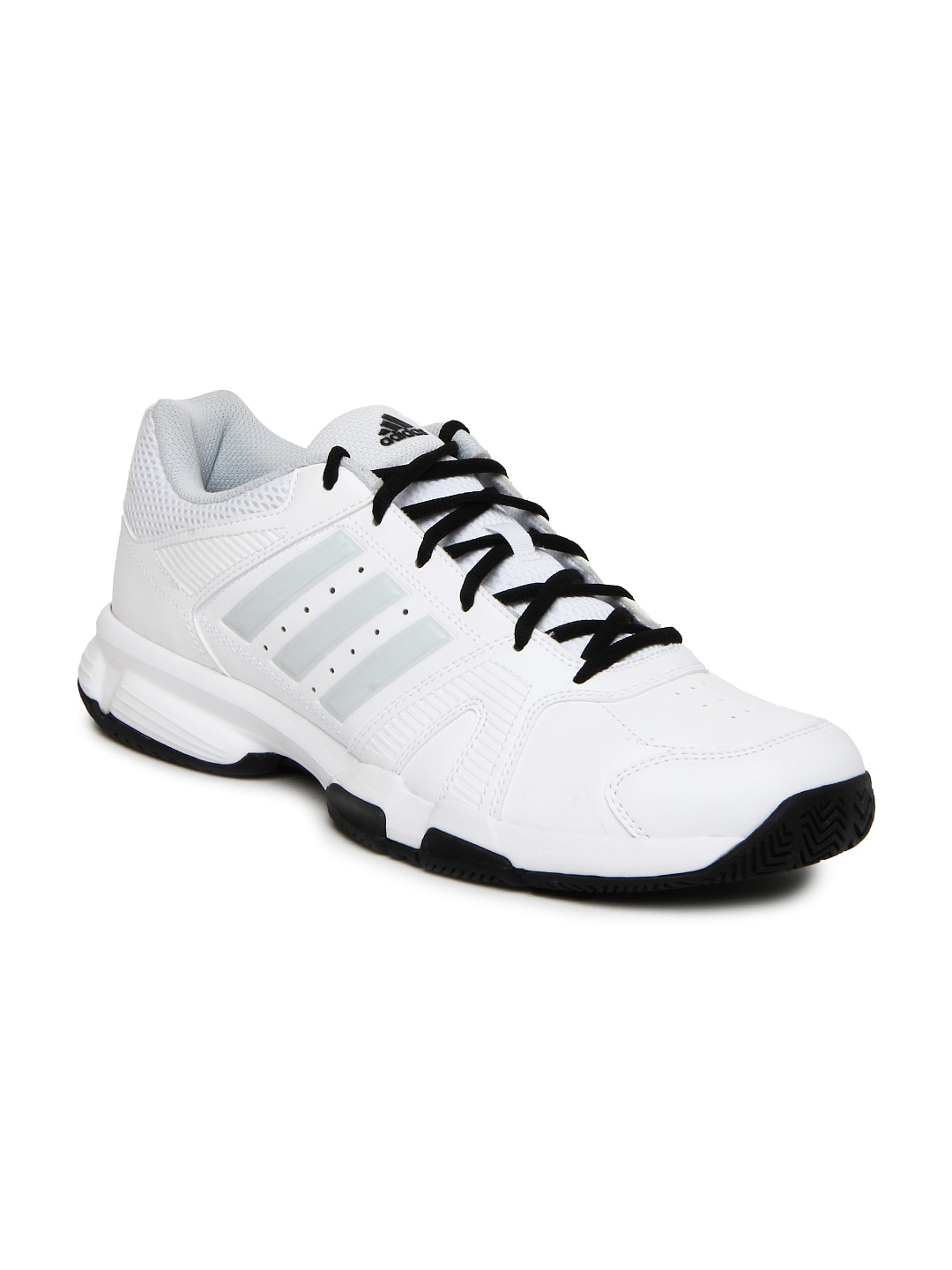 adidas men's barracks f10 black and white running shoes