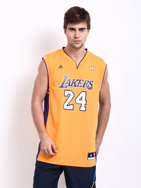 Buy Adidas Men Yellow Kobe Bryant Swingman Lakers Basketball Jersey - 2 - Apparel For Men - 155411