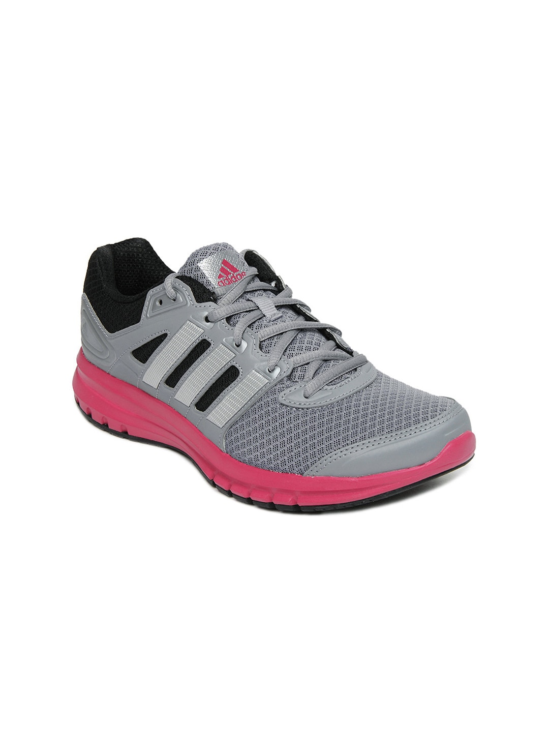Adidas Adidas Women Grey & Black Duramo 6 W Sports Shoes (Multicolor)