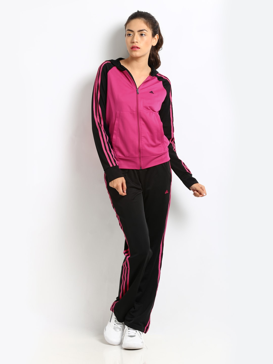 buy adidas women pink amp black tracksuit tracksuits for
